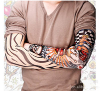 Wholesale Tattoo Arm Sleeves Skulls - Best Sunscreen Oversleeve Bicycle Cycling Snowboard Motorcycle Ski UV-resistant Arm Sleeve Skull Cool Tattoo Printed Mixed On Sale Wholesale
