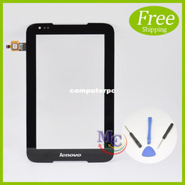 "планшетные панели с сенсорным экраном Скидка Wholesale- New Touch Screen Digitizer For 7"" Tablet IdeaTab A1000 Replacement glass touch panel With Tools 207010100011A.1"