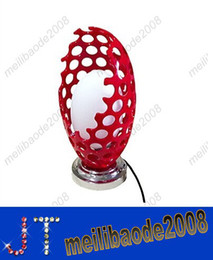 Wholesale E14 Red - Creative Red Dragon Egg Table Lamps Bedside Lamps Novelty Stylish Desk Table Lamp Free Shipping Hot Selling HSA452
