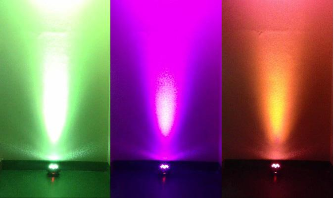 Par Light LED DMX Wireless Battery Alimentato a luce par RGBAW + UV i in 1 Up-Light Confezione da 12 in flightcase