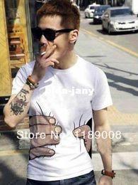 Wholesale T Shirt Design Hands - Wholesale-Free shipping!2014 men's 3D T-shirt creative design big hand grasp you sweethearts outfit short sleeve T-shirt