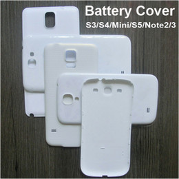 Wholesale s3 repair - Back Battery Cover for Samsung GALAXY S3 Mini S4 Mini S5 Note 2 3 Plastic Replacement Housing Repair Part Removable Shell Case DHL
