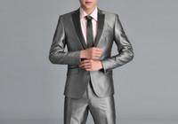 Wholesale Mens Complete Suits - New mens black complete designer tuxedo wedding Bridegroom suit man party suit(Clothes+Pants+tie)531