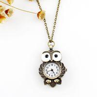 Wholesale Vintage Nurse - Hot sale fashion design Vintage jewelry lovely owl pocket watches pendent necklace