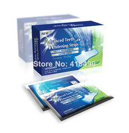 Wholesale Teeth Whitening Strips Wholesalers - Free shipping 28pc 6% Hydrogen Peroxide Teeth Whitening Strips 14 applications, Double Elastic Gel Strips