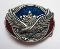 Wholesale Wholesale Coats For Men - Eagle belt buckle with Sliver coating SW-B1042 suitable for 4cm wideth belt with continous stock free shipping