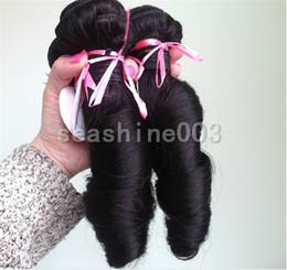 Wholesale Cheap Peruvian Weaves 5a - New Aunty Funmi Cheap Hair Peruvian Virgin Remy Hair Romance Curl Hai Weft 3Pcs Lot Grade 5A Remy Human Hair Extension Weave Color #1b