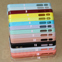Wholesale Iphone 5c Case Jelly - UltraThin DIY Cases Candy Jelly Clear Solid Hard PC case cover for iphone 4 5 5c 5S Galaxy S4 s5 s3 note 2 Note 3  HTC M8 Factory price 100P