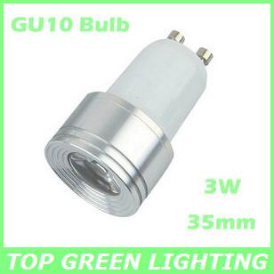 small 35mm diameter 3w mini led gu10 spot light bulb eu usa 110v 220v 230v 240v