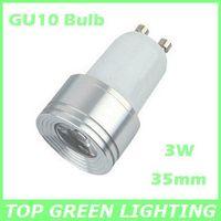 Wholesale Mini Led 35mm - Small 35mm Diameter 3W Mini LED GU10 Spot Light Bulb EU USA 110V 220V 230V 240V Bombilla GU10 LED Lampara 3W Mini GU10 LED Lamp