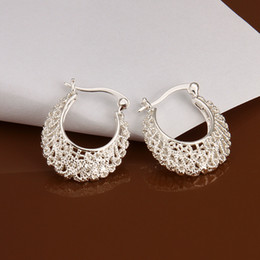 Wholesale sterling silver drop earings - fashion New 925 sterling silver Male ladys girls Nice drop earings e329 free shipping