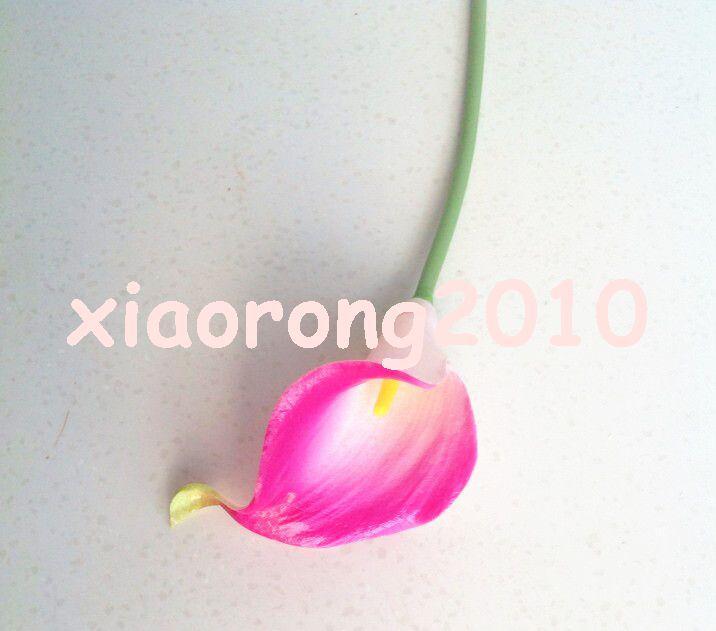 33 cm nero / bianco / rosso / rosa / rosso scuro elegante silicio / pu artificiale tocco reale calla giglio callas fiore centrotavola nuziale