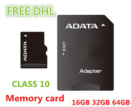 Wholesale Adata Flash Card - Wholesale - ADATA Micro SD Card Class 10 TF Memory Card 64 GB 32GB 16GB Flash Micro SD SDHC Cards Adapter Retail Package FREE DHL01