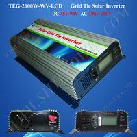 Wholesale Solar Power Grid Tied - TEG-2000W-LCD,2000W Solar Grid Tie Inverter,power inverter, LCD solar inverter, MPPT Function, inverter grid tie 2kw, inverter tie grid