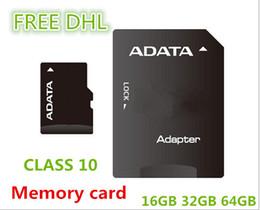 Wholesale Memory Cards 64 Gb - Micro SD Card Class 10 TF Memory Card 64 GB 32GB 16GB Flash