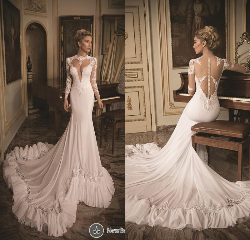 2014 sexy beach high neck chiffon mermaid bridal gowns chapel cheap simple backless summer wedding dresses discount sexy luxurious white wedding dresses junglespirit Image collections