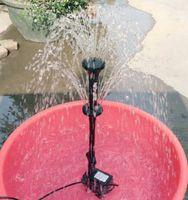 ingrosso teste di fontana-Spruzzatore Mini pompa sommergibile Fontana di acqua Stagno Fontana di acquario Ugello fungo per rocaille Fiore con testa a spruzzo per aspersione