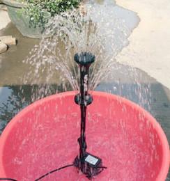 Testa di funghi online-Spruzzatore Mini pompa sommergibile Fontana di acqua Stagno Fontana di acquario Ugello fungo per rocaille Fiore con testa a spruzzo per aspersione
