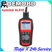 Wholesale Srs Scanning Tools - AUTEL AL619 Auto Link OBDII CAN Scan Tool with ABS and SRS AL 619