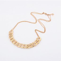 New 2014 Vintage 18K Gold Plated Cheap Chunky Choker Chain Neon Bib Statement Necklaces & Pendants Fashion Jewelry For Women S6196