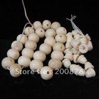 Wholesale Mala Bones - TSB0458 Tibetan white Yak Bone Mala Guru beads,12*10mm,3-ways loose beads for Prayer Beads Rosary,10 sets lot
