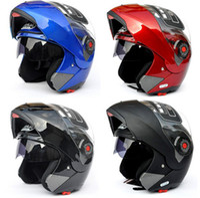 ingrosso caschi moto aperti-MOTO Undrape Face caschi JIEKAI 105 viso aperto casco Full Face casco casco moto moto motocross casco 7 colori taglia M L XL XXL