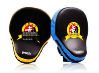 Wholesale Circular Punch - Hot Sale Muay Thai MMA Boxing Gloves Sandbag Punch Pads Hand Target Focus Training Circular Mitts for Kick Fighting
