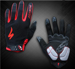 Wholesale Road Bicycle Winter Gloves - 2 Pairs Lot Professional Winter Riding Road Mountain Men Bike Bicycle Gloves Black Grey Red Mitten Cycling Full Finger Gloves