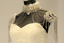 Wholesale Shoulder Crystal Jewelry Necklace - wedding Bridal Jewelry Bridal Shoulder Necklace