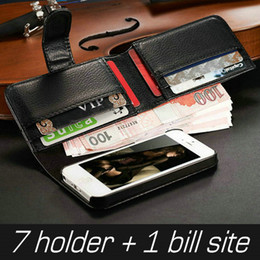 Wholesale Iphone5 Wallet Book - With 7 card holder PU Leather Wallet case for iPhone 5 5s 5g Mobile Phone Cover for iphone5 Luxury Business Man Book Style New