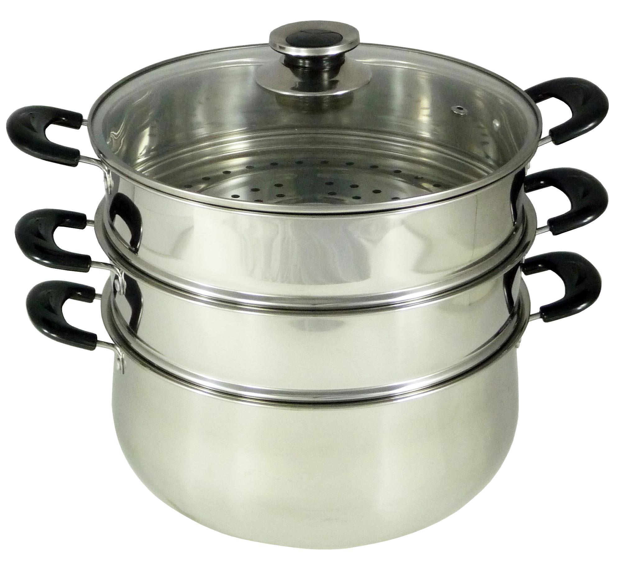 2019 CONCORD Stainless Steel 3 Tier Steamer Steam Pot Cookware 30cm From Concord, $43.22