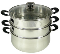 Stainless Steel Stocked  CONCORD Stainless Steel 3 Tier Steamer Steam Pot Cookware 30cm