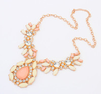 Wholesale Necklace Statement Neon Crystal - Bohemian Gold Choker Chain Neon Statement necklaces & pendants Fashion Jewelry For Woman S902013
