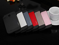 Wholesale Hybrid Case Iphone4 - MOTOMO Hybrid Case For Galaxy s5 I9600 Note3 iPhone4 4S 5 5S Brushed Aluminum Metal + Plastic Double Layer Skin Cover Luxury Style Newest
