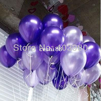 Wholesale Pearl Hotel Decoration For Birthday - Free shipping 200pcs pure pearl color ballons latex wedding decoration balloon for party,hotel,birthday,carnival