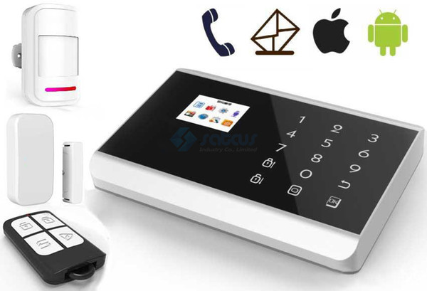 GSM ALARM APP remote control home alarm system with touch panel TFT color display for home security KR-8218G SG-218
