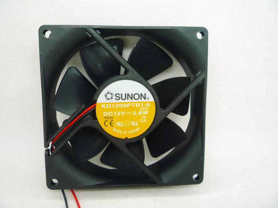 Ny original Sunon KD1209PTB1-6 OC DC12V 2.8W 9cm 9225 Kullager Kylfläkt