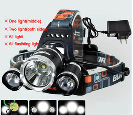 Wholesale T6 Led Head Light - CREE XML T6 Led Headlamp 4 Modes High Power XM-L Head Lamp for Outdoor Fishing Hiking Travelling 5000 Lumens Led Headlight Light 100-240V