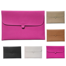 """Wholesale Leather Laptop Sleeve 13 - S5Q Leather Laptop Envelope Case Carry Sleeve Bag Cover For Macbook Pro Air 13"""" AAADDG"""