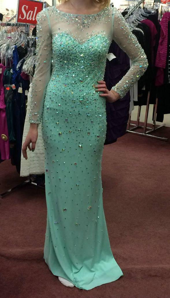 Elsa Inspired Prom Gowns