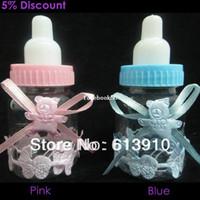 baby flasche taufe bevorzugt großhandel-Freie Verschiffenbabyparty bevorzugt wenig Flaschentaufegeschenk-Süßigkeitkasten GSM-01