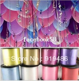 free shipping gifts packaging ribbons NZ - High Quality 11 Colors Personalized Printing PVC Ribbons Balloons Ribbons Gift Package Decoration Craft 500Yards Free Shipping