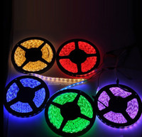 Wholesale Meters Outdoor Lights - RGB 5050 SMD 300 leds 500cm waterproof IP65 Led Flexible Strip Light 60leds meter DC 12V changeable color for Christmas party outdoor light