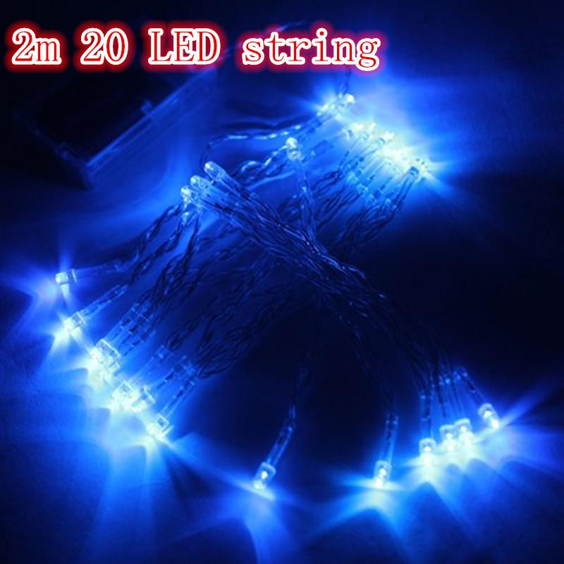 Outdoor Indoor Festival String Lights 2M 20 LED Colorful LED String Lights Battery Operated Christmas String New Year Wedding Decorations