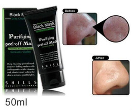 Wholesale Black Mask Collagen - SHILLS Deep Cleansing Black MASK 50ML Blackhead Facial Mask 200pcs