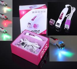 Wholesale Dark Mark Remover - BIO Electric Derma Roller with LED Light Skin Beauty Roller for Wrinkle Remover and Skin Rejuvenation