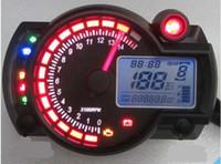 Wholesale Digital Speedometer Odometer - New Backlight LCD Digital Motorcycle Speedometer Odometer Motor Bike Tachometer Koso Similar