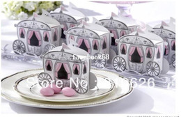 Wholesale Wholesale Sugar Free Candy - 2013 new Free shipping 100 pcs Cute Enchanted Carriage Favor Boxes wedding candy box sweet sugar box wedding party FAVOR gifts