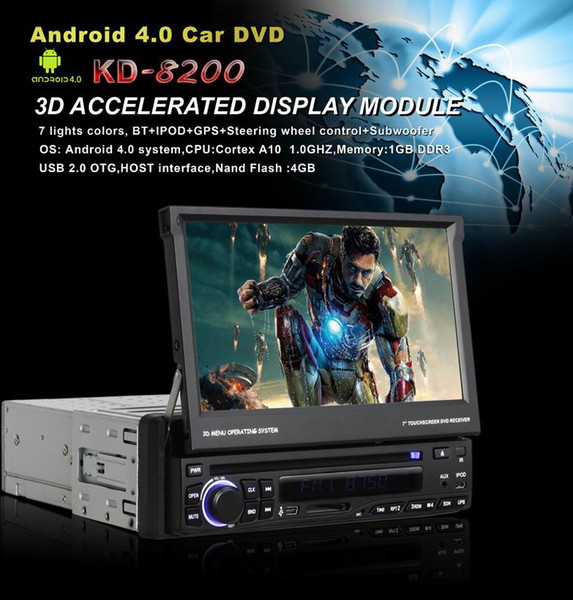 Universal Android 4 0+Wince OS One Din 7 Inch Car DVD Player With WIFI GPS  Navigation Bluetoot Best Cheap Dvd Player Best Compact Dvd Player From