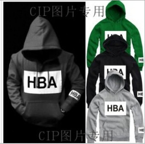 Free shipping 1 piece Hood by air paid in full hoodie hba pif with a hood pullover sweatshirt outerwear Hip hop brand desinger hoodies